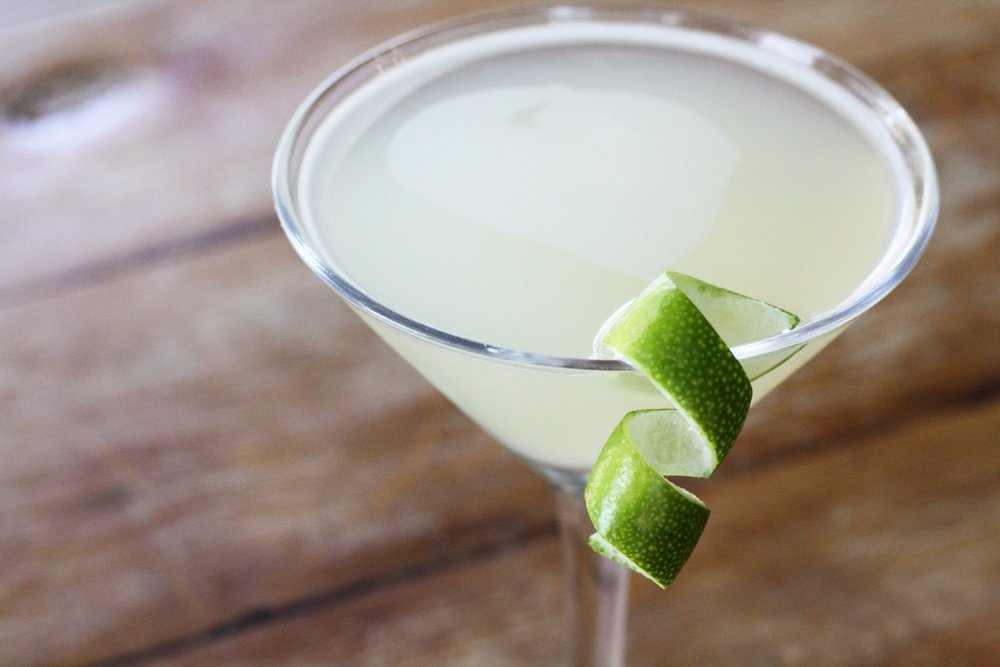 ... and strained into a coupe, this may just be the perfect cocktail